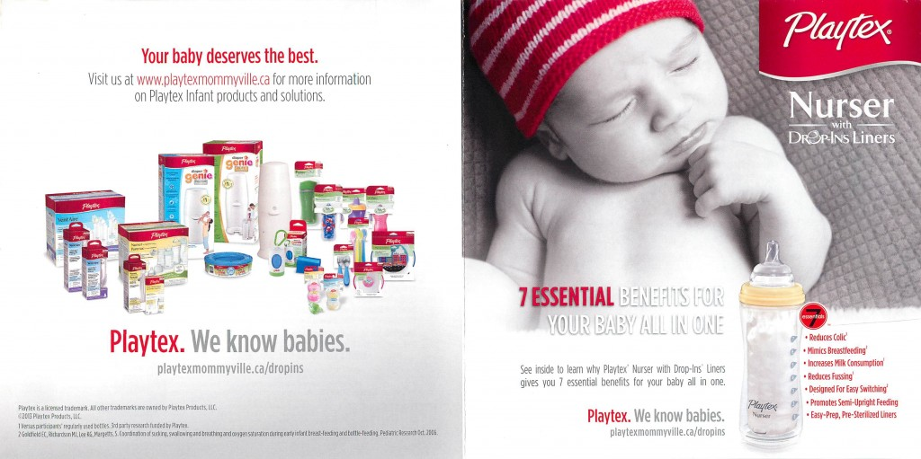 Receive a Playtex Nurser bottle & drop in liners