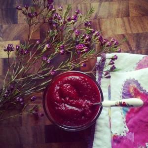 beets blueberry mash